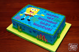 spongebob cake ideas spongebob birthday cake vanilla cake with vanilla frosting flickr