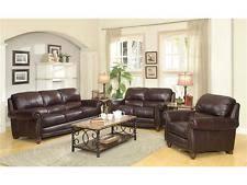 Saddle Brown Leather Sofa Top Grain Leather Sofa Ebay