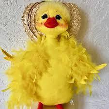 momma duck with bonnet 18in easter stuffed annalee dolls
