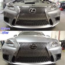 lexus san diego san diego ca before and after the chrome on the front bumper is wrapped in