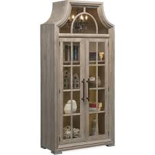Display Hutch Lancaster Display Cabinet With Hutch Parchment Value City