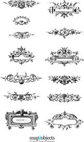 14 free vector floral ornaments pack 03