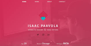 17 personal homepage design inspiration for 2014