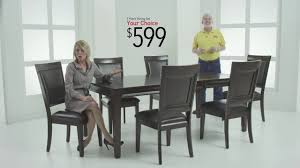 Wood Dining Room Tables And Chairs by Dining Rooms Sets For 599 Bob U0027s Discount Furniture Youtube