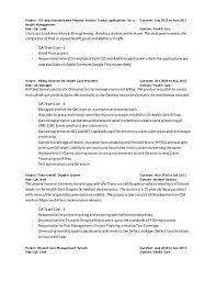 Activity Resume Resume