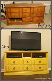 Turning Dresser Into Bookshelf Before And After Tv Console I Think I Can Use This For My Drawer