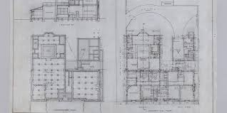 architectural drawing foundation and ground floor plan bank of