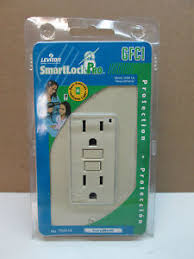 gfci receptacle with indicator light leviton 7599 ni smartlock pro gfci ivory 15 amp125 receptacle
