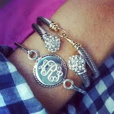sterling silver monogram bracelet sterling silver monogram bracelet with nautical trim monogram