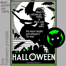 free printable halloween quote print ausdruckbares