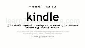 Flashcards Kindle Kindle Pronunciation And Definition Youtube