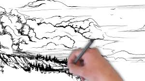 oceanscape pen and ink sketch whiteboard animation youtube