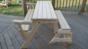 folding picnic table bench plans free bench ideas