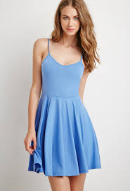 fit and flare dress forever 21 forever 21 fit flare cami dress in blue lyst