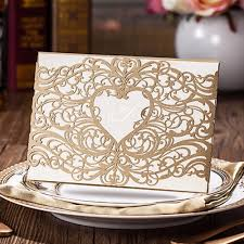 Wedding Invitations And Rsvp Cards Cheap Online Buy Wholesale Laser Cut Heart Shape Wedding Invitation From