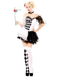 harlequin fancy dress costume ladies jester mask stockings