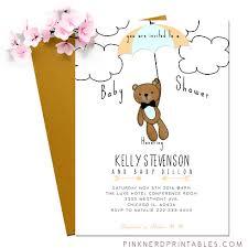 teddy baby shower baby shower teddy invitation modern baby shower for a boy