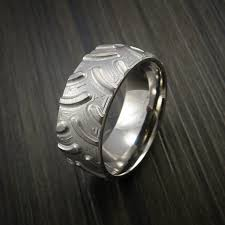 tire wedding ring titanium knobby tire tread pattern ring custom made band