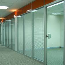 bank office wall dividers wooden glass fireproof partition with