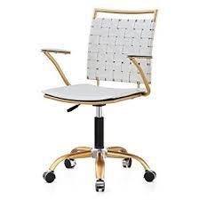 white gold office chair amazon com meelano 356 gd whi office chair white gold kitchen