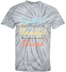 thanksgiving tie grateful thankful blessed colorful thanksgiving tie dye t shirt