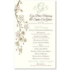 exles of wedding ceremony programs wedding invitation wording formal catholic popular wedding