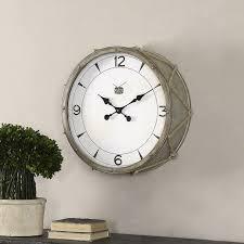 uttermost snare wall clock hayneedle