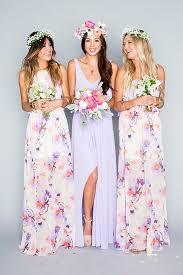 our favorite 2016 wedding trends floral bridesmaid dresses 2016