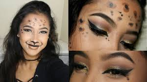Cheetah Face Makeup For Halloween Snapchat Inspired Cheetah Cut Crease Halloween Makeup Tutorial