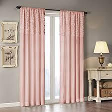 Ruffle Blackout Curtains Amazon Com Lush Decor Reyna Window Curtain Panel Pair 84