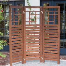 all things cedar 7 ft cedar wood privacy screen trellis hayneedle