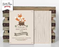 woodland baby shower invitations woodland baby shower invitation pretty paper studio