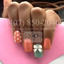 strawberry inspired nail design polka dots u0026 3d bows hand painted