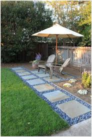 Small Garden Paving Ideas by Backyards Bright Our New Stone Walkway And Small Patio Bluestone