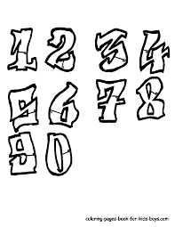 graffiti numbers 2017 z31 coloring page