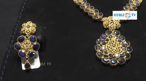 sapphire necklace gold chain images Blue sapphire necklace set latest malabar gold and diamonds jpg