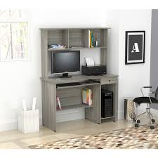 inval computer desk with hutch inval computer desk and hutch free shipping today overstock com