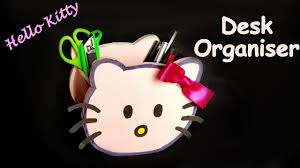 Desk Organiser For Kids Diy How To Make Hello Kitty Pen Stand Pencil Holder Desk