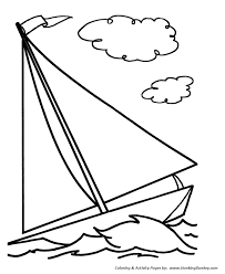 simple shapes coloring pages free printable simple sailboat