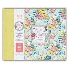 scrapbook albums 12x12 edition 12 x 12 inch paper flowers scrapbook album ebay
