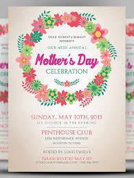 invitation flyer template spring flowers open house flyer open