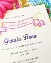 luncheon invitations gracie s colorful bridal luncheon invitations