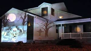 halloween light display projector 2011 halloween outdoor display youtube