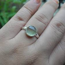 10mm ring buy handmade prehnite ring 10mm gemstone cabochon silver