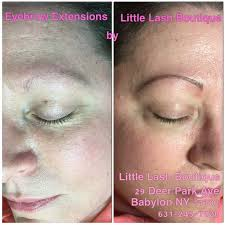 eyebrow extensions new york babylon new york little lash