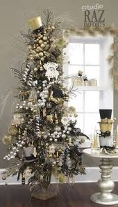 the whole tree heavily covered with romantic black and white