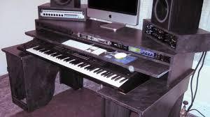 Music Studio Desks home studio production desk via youtube home music room