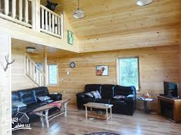 modular home interiors chalet log home manufactured in pa cozy cabins