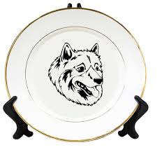 american eskimo dog new zealand american eskimo dog head black ceramic plate gold trim