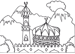 coloring books for muslim children coloring mosque arabic